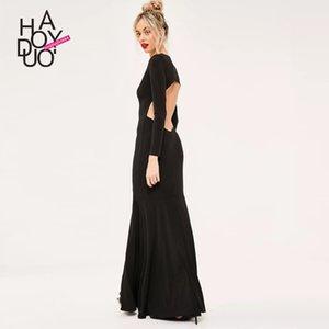 Backless Elbise üzerinden Haoduoyi Sıcak Satış Yaz Giyim Yeni Stil Moda Zarif Seksi Derin V Hollow Giyim bir Lot