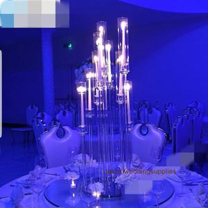 Nuevo estilo caliente para la pieza central de la boda del sostenedor de vela candelabros mentales con arco senyu0468