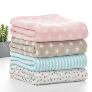 Summer Flannel Baby Blankets Soft Swaddle Wrap Baby Boy Girl Blanket Bedding Set Infant Stroller Covers Kids Blanket For Newborn