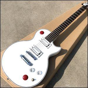 Chinese Style Kill Switch Buckethead Guitar 24 Frete de guitarra eléctrica, guitarra alpina blanca, vendiendo alta calidad