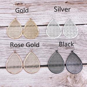 Kadınlara 2020 Benzersiz Chunky Su Damlası Takı Aksesuar için Moda Yeni Altın Kesim Out Gümüş Telkari Gözyaşı Dangle Küpe