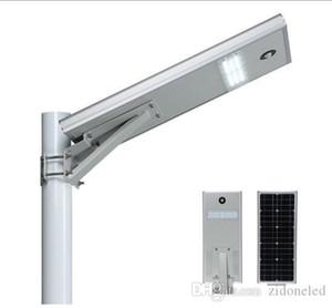 PIR 모션 센서 25W 통합 주도 태양 광 가로등 방수 LED 도로 조명 라이트 센서 모노 태양 전지 패널 야외 램프