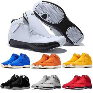 Nike Air Jordan Retro 18 donne degli uomini dei pattini di pallacanestro bianco rosso Olimpiadi ASG Bred Definizione Momenti nero Designer bianco Toro Sneakers 40-47