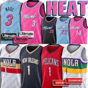 Dwyane Wade Miami Calore Jersey New Orleans Zion Williamson Pellicani Jimmy Tyler Butler Herro Kendrick 25 Nunn Basketball Maglie