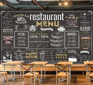 Menu de Vintage Bill Wallpaper Mural de fundo, Café, Café Restaurante Hotel 3D Mural Muro papel autocolante
