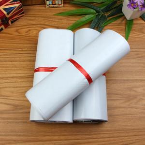 حقيبة ساعي بيضاء ذاتية اللصق بولي الارسال الأبيض بولي بريدية آخر مغلف الحقائب أكياس البلاستيك اكسبريس ساعي