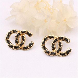 New Style Letter Ear Stud With European And American Personality Earrings Fashion Creative Accessories Wholesale