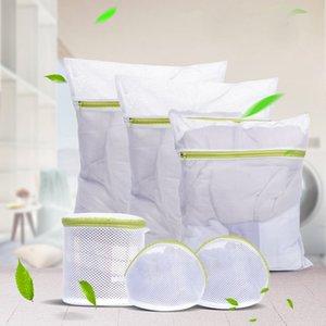 6 pz / set Zippered Pieghevole Nylon Laundry Bag Bra Calzini Biancheria Intima Abbigliamento Lavatrice Protezione Net Mesh Borse Moda D25 C19041701