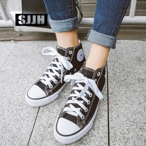 SJJH Femmes Haut-Dessus Chaussures Lovers Chaussures confortables vulcaniser Casual Chaussure à lacets Chaussures Femme Baskets A1364