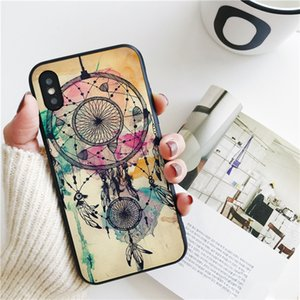 Fundas Dream Catcher Watercolor Cover for iPhone 11 Pro Xs Max Xr Case for iPhone 8 7 6s Plus 5S SE 5 Case Soft Silicone Cover.