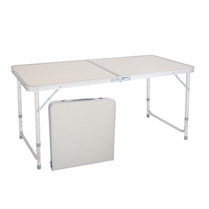 Ship From USA 120 x 60 x 70 4Ft Portable Multipurpose Folding Table, Weight Capacity Folding Table,Small Folding Table Adjustable Height