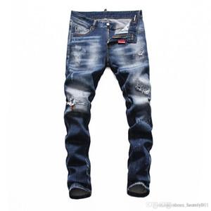Marca Jeans Mens Luxury Designer Jeans Baggy motociclista cintura alta rasgado Rock Revival magro preta Men Jean jeckets calças compridas Calças 042
