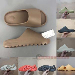 2020 Fashion Kanye West Slides Schaum Runner Desert Sand Earth Brown Harz Männer Womens Kinder Slipper pantoufle 450 Luxe männlich weiblich Sandale