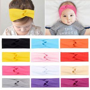 قطيفة جميلة اللون Baby Bows Headband Ribband Bows Hair Band for Kids Girl Bow Tiara New Handm Made Headwrap Hair Supers
