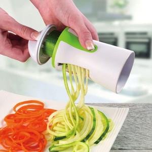 1PC cuchillas vegetal Spiralizer máquina de cortar espiral Twister portátil rallador de la fruta del cortador herramientas de cocina espaguetis Pasta Kitchen Gadget