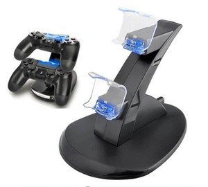 Controller Charger Dock LED Dual USB PS4 Charging Stand Station Cradle for Sony Playstation 4 PS4   PS4 Pro  PS4 Slim Controller 1pcs