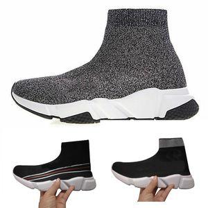 Balenciaga socks and shoes air jordan off white slipper vepormax nmd basketball vans mer Hommes Femmes Chaussettes Haut Chaussures Noir Bleu Rouge Solide De luxe bottes formateurs
