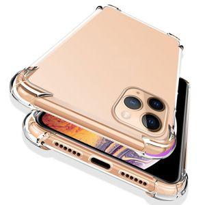 Super antidetonante Cases Tampa à prova de choque macio TPU Transparente Clear Case telefone Proteja Para iPhone 11 pro Max X XS Nota 10 acasalar 30 Pro