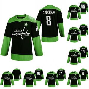 워싱턴 수도권 하키 싸움 Ncov 8 Alexander Ovechkin Jersey 19 Nicklas Backstrom 74 John Carlson Ice Hockey Jerseys