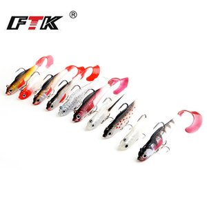 8Cm 10Cm Lu Yafei Bait Pack lead Fish Soft Bait Roller Tail Road Sub Bait With Three Anchor Hook WX-5555