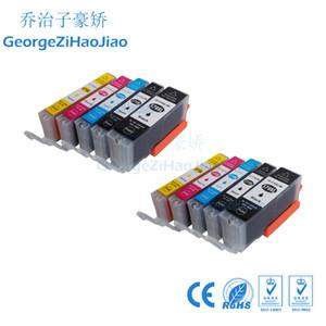 10 cartouches d'encre PCS PGI570XL CLI571XL Compatible pour Canon PGI-570 CLI-571 PGI570 Ensemble CLI571 Pixma MG5753 MG5750 MG5751 MG5752Imprimante