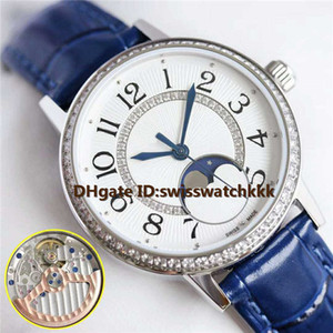 New woman watch Swiss 925A 1 Automatic Power reserve 40 hours Sapphire Moonphase Date Display Diamond Bezel Water Resistant 50m Ladies watch