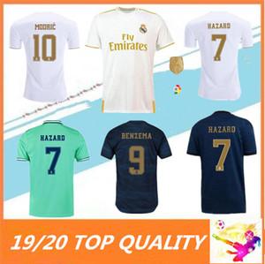 2019 2020 HAZARD camisetas de fútbol real madrid tercera distancia camiseta de verde ISCO SERGIO RAMOS soccer jersey football shirt 19 20 los niños maillots