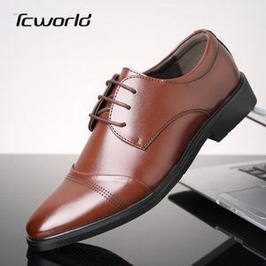 Large Size Brogue Männer Geschäfts-Kleid Schuhe Schuhe De Vestir Hombre Breathable bequeme Formal Office-Leder