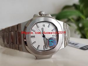 2 colores U1 Venta Fábrica Movimiento automático de los hombres 40 mm Ver Dial blanco F Nautilus Classic 5711 / 1A Relojes Transparent Back Wristwatche