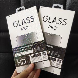 Lazer renkli sınır boş Perakende Paket Kutusu Paketi Temperli Cam 9 H Ekran Koruyucu için iphone X XS MAX XR 8 7 Huawei Xiaomi