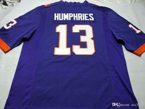 Uomo-donne Clemson Tigers gioventù # 13 Adam Humphries del calcio Jersey formato s-4XL o personalizzato qualsiasi nome o numero di maglia