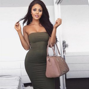 Summer cross-border dress fashion wrapped chest long beach female sense sleeveless European and American explosive dress