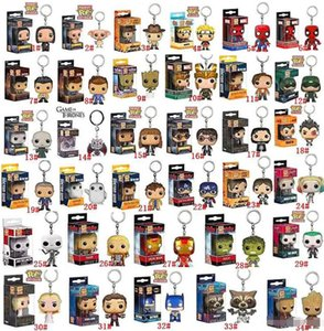 Funko POP Marvel Super Hero Harley Quinn Deadpool Harry Potter Goku Spiderman Joker Game of Thrones Miniature action figure giocattolo Keychain