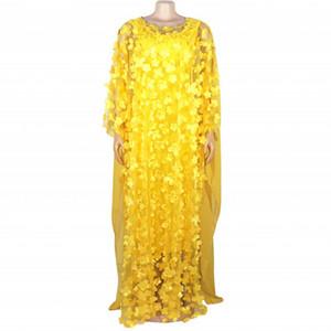 2019 Súper otoño talla de ropa africana de Dashiki Moda suelta bordado largo vestido de ropa de las mujeres para las nuevas mujeres de África