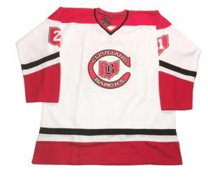 Özel hokey forması boyutu XXS S-XXXL 4XL XXXXL 5XL 6XL Cleveland Barons Özelleştirilmiş Hokeyi Jersey Triko Dennis Maruk Gilles Meloche