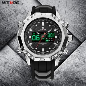 WEIDE Askeri Kuvars Dijital Otomatik Tarih Erkekler Spor İzle Saat Silikon Kayış Kol Relogio Masculino Montres Hommes Relojes