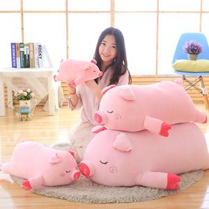 1pc 60cm 2020 nuevo chino rosa del zodiaco cerdo muñeca del cerdo de la felpa Juguetes Fat Pig almohada suave del amortiguador del bebé muchachas de los cabritos regalos de cumpleaños