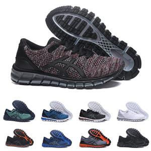 Alta calidad Gel-Quantum 360 II Nuevo diseño Gris Blanco Negro Hombres Cojín Zapatillas de running Original 2 2s la mejor calidad zapatillas deportivas 40-45