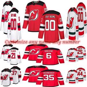 Custom New Jersey Devils Jerseys 86 Jack Hughes 76 PK Subban 30 Martin Brodeur Personaliza cualquier número Cualquier nombre Hockey Jersey