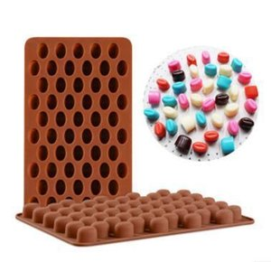 New Arrival High Quality Silicone 55 Cavity Mini Coffee Beans Chocolate Sugar Candy Mold Mould Cake Decor