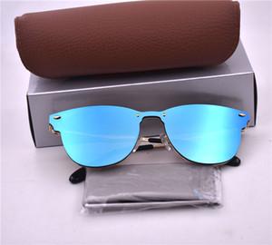 Yüksek kaliteli Lüks Erkek Marka Tasarımcı Yuvarlak Güneş İçin Erkekler Kadınlar kutu durumda ile UV Koruma Güneş Gözlükleri BANS