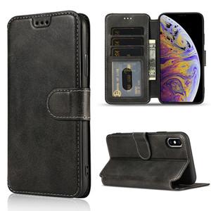 Luxe PU Porte-monnaie en cuir Béquille pour iPhone 11 Pro XS Max XR 7 8 Plus S10 S20 Plus Ultra A10 note10 A20 A50 A70 A01 A21 A51 A71 A20E