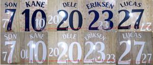 2018-2019 KANE ERIKSEN SOHN LUCAS DELE Namensset Namensnummerierung Fußball Patch Fußball Abzeichen