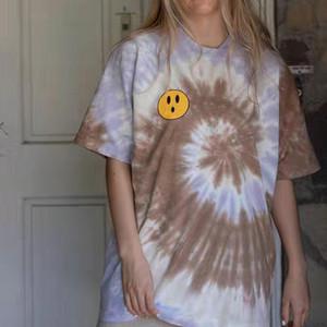 20FW Justin Bieber T Color Matching T Männer Frauen Paare einfaches T-Shirt-Straße Skateboard Sommer mit kurzen Ärmeln HFYMTX693