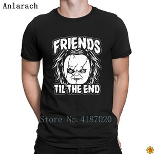 Friends Til The End Chucky T-Shirts Short Sleeve Normal Personalized T Shirt For Men Hot Sale Classic Anlarach Awesome