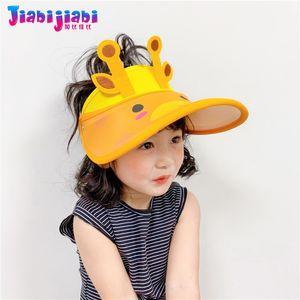 Nouveau été Hat pour les enfants Boy UV-soleil Cap Fille Toddler Top Air Cap enfants Big Cartoon ras bord Visor plage 2-12 Old SPF 50+