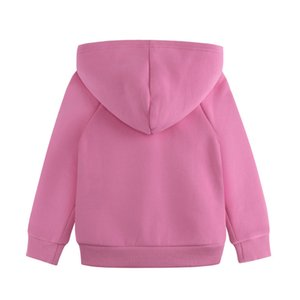 Children's Clothes Bow Embroidery Girl Pure Cotton Cardigan Even Caps Loose Coat Tide 0201