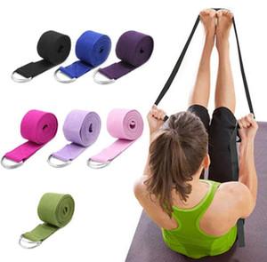 183cm Yoga fitness resistance bands Yoga stripes Belts Stretch Strap D-Ring Belt Waist Leg Gym Rope Yoga loop Belt