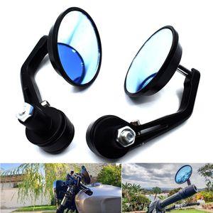 "Per Universal Motos 7/8 ""Maniglia per la barra End Mirrors Cafe Racer Round Motorcycle Motorcycle Specchio Vista posteriore"