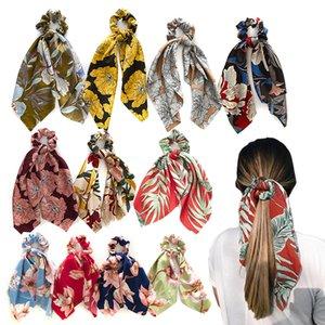 2020 New Chiffon Bow Scrunchie For Women Scarf Sweet Elastic Hair Bands Hair Rope Girls Hair Ties Headband Accessories